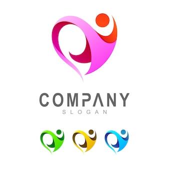 Modèle de logo coeur