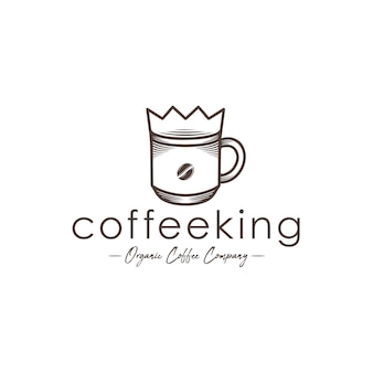 Modèle de logo coffee king