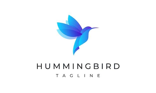 Modèle de logo de colibri