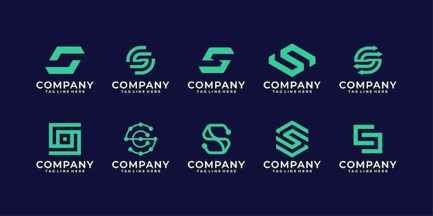 Modèle de logo collection minimalisme lettre initiale s