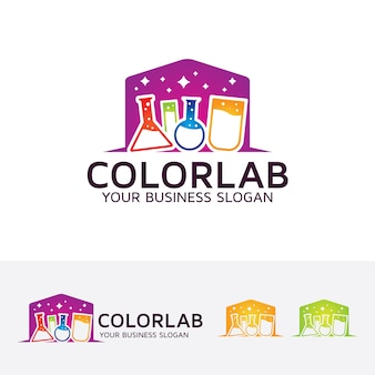 Modèle de logo color lab