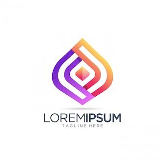 Modèle de logo coloré abstrait