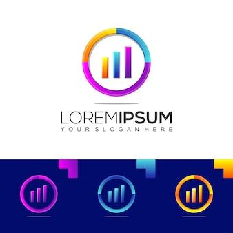 Modèle de logo coloré de comptabilité financière