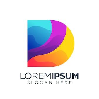 Modèle de logo coloré lettre d