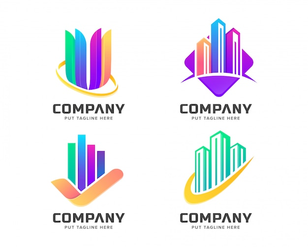 Modèle de logo coloré moderne
