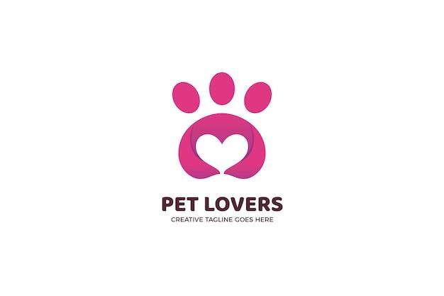 Modèle de logo de la communauté des amoureux des animaux de compagnie