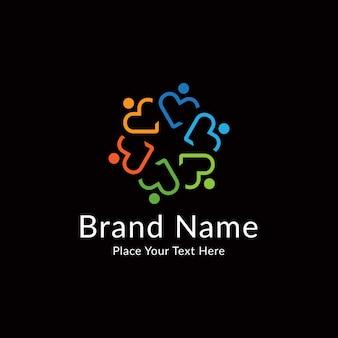 Modèle de logo de communauté coloré