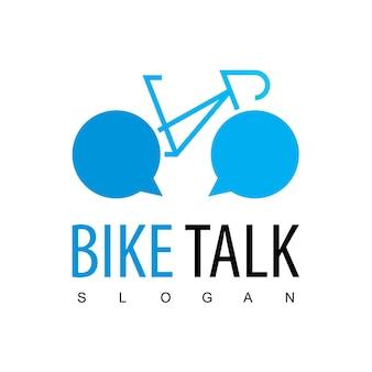Modèle de logo de communauté de vélo