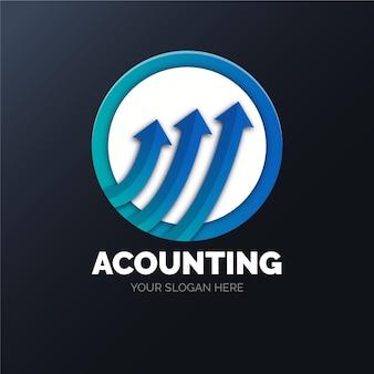 Modèle de logo de comptabilité dégradé