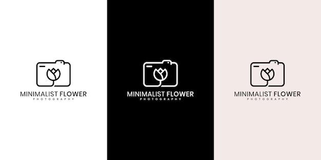 Modèle de logo de concept floral créatif, photographie de mariage