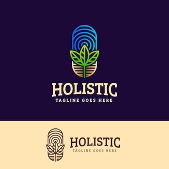 Modèle de logo de concept holistique détaillé