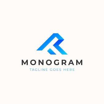 Modèle de logo de concept de monogramme lettre t