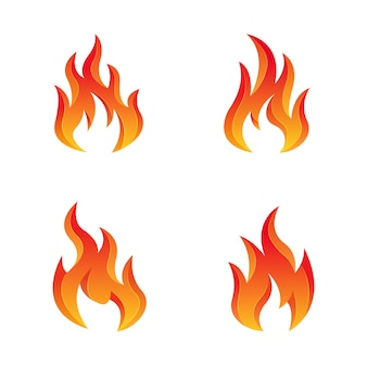 Modèle de logo de conception de feu premium
