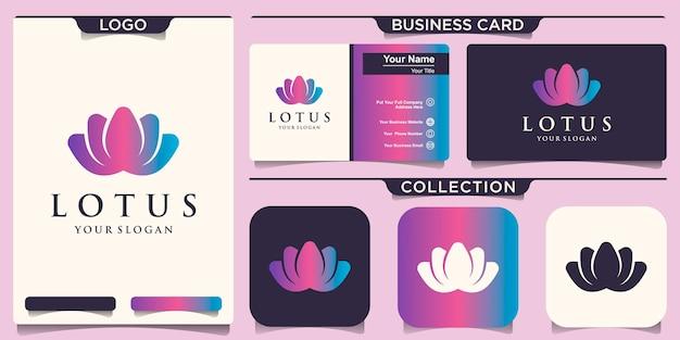 Modèle de logo de conception de fleurs de lotus