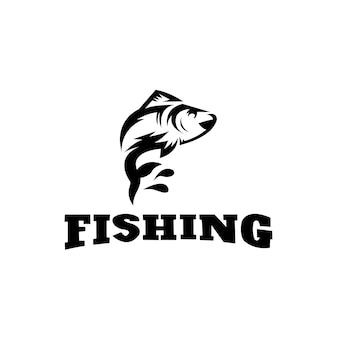 Modèle de logo de conception de vecteur de pêche logo de poisson