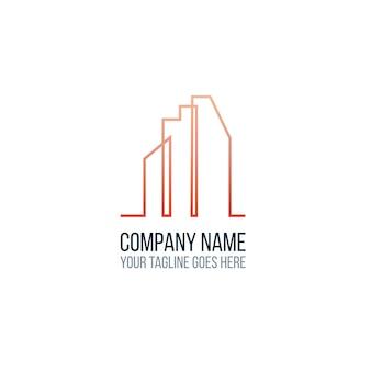 Modèle de logo de construction