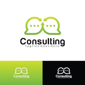 Modèle de logo de consultation