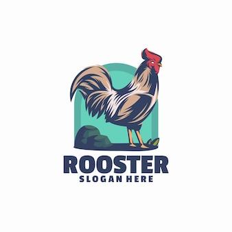 Modèle de logo de coq
