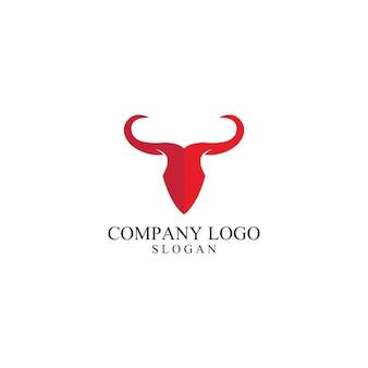 Modèle de logo de corne de taureau