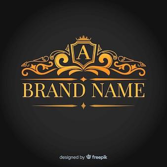 Modèle de logo corporatif élégant doré