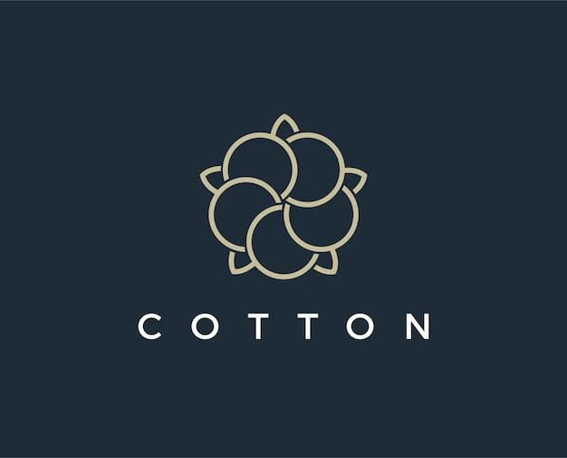 Modèle de logo en coton minimal