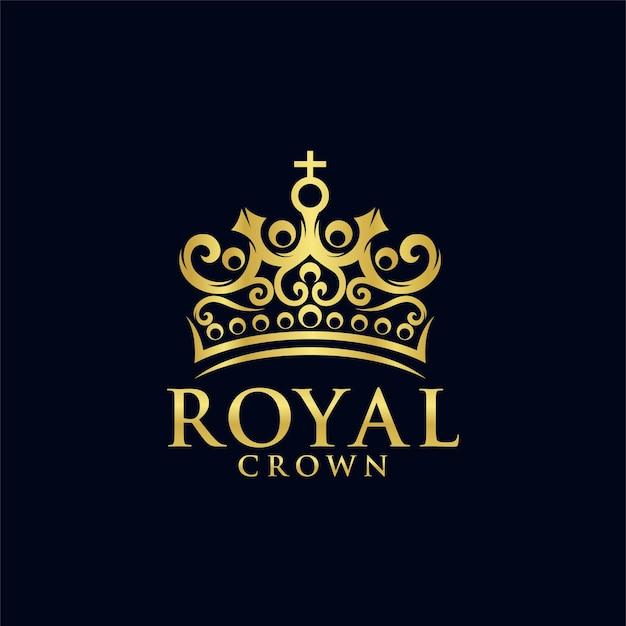 Modèle de logo de couronne royale