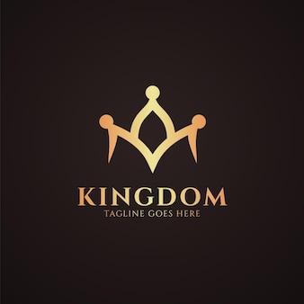 Modèle de logo de couronne de royaume