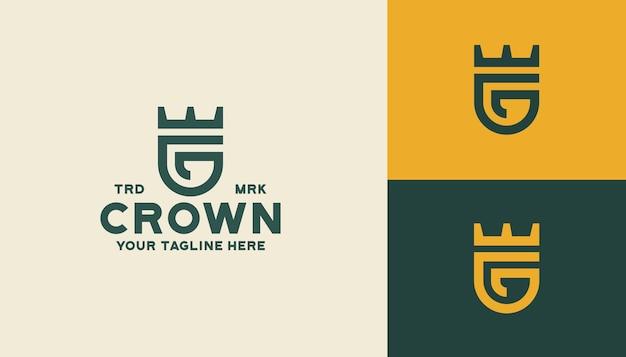 Modèle de logo de couronne