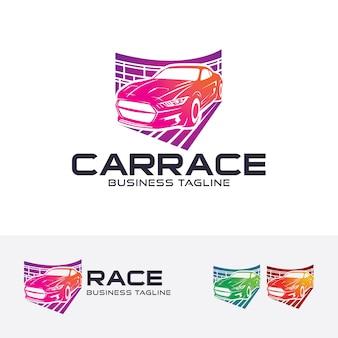 Modèle de logo de course automobile