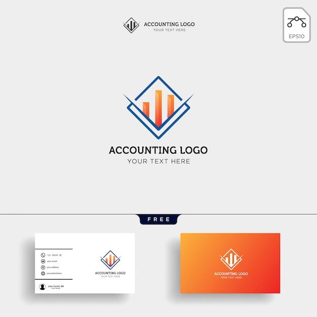 Modèle de logo créatif comptabilité finance isolé