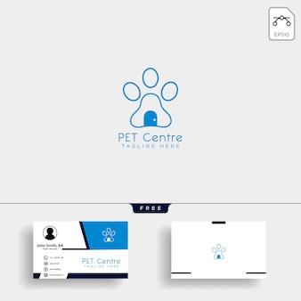 Modèle de logo créatif pour la maison ou le magasin avec carte de visite