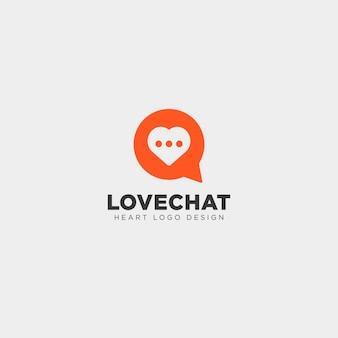 Modèle de logo créatif simple amour chat