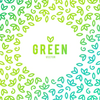 Modèle de logo creative green house concept