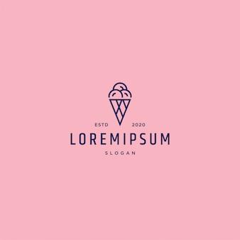 Modèle de logo de crème glacée
