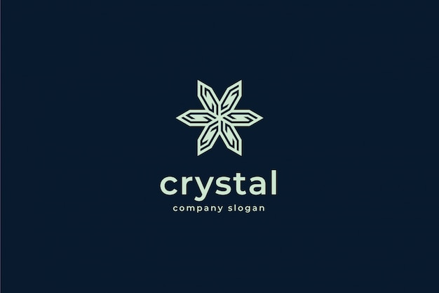 Modèle de logo en cristal