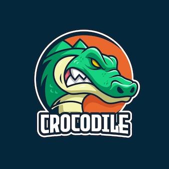 Modèle de logo de crocodile e-sports