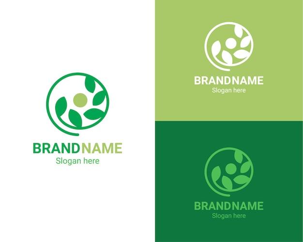 Modèle de logo de croissance de la nature