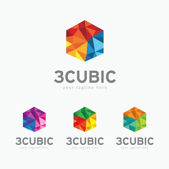 Modèle de logo cubique