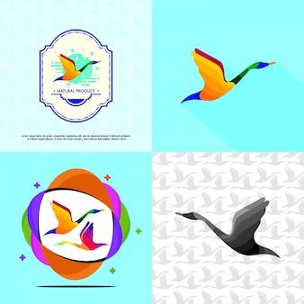 Modèle de logo de cygne