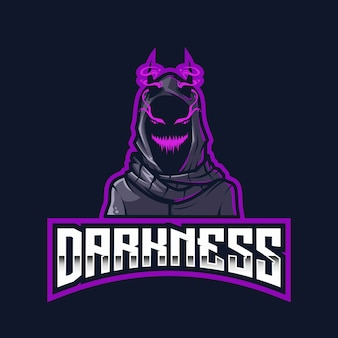 Modèle de logo darkness esport