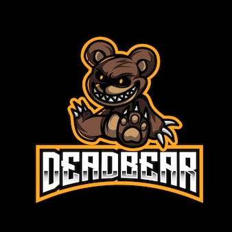 Modèle de logo dead bear esport