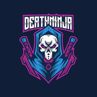 Modèle de logo death ninja esport