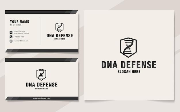 Modèle de logo de défense de l'adn sur le style monogramme