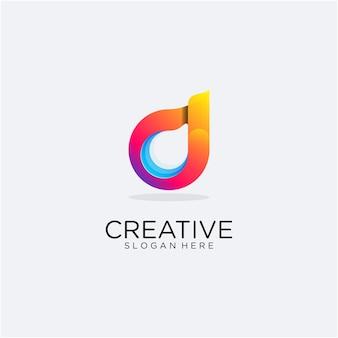 Modèle de logo dégradé abstrait d