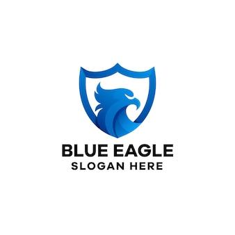 Modèle de logo dégradé aigle