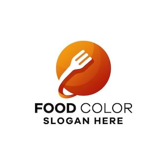 Modèle de logo de dégradé alimentaire