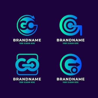 Modèle de logo dégradé aller