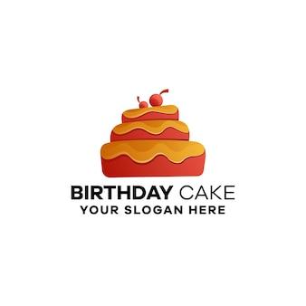 Modèle de logo de dégradé de boulangerie