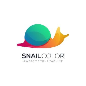 Modèle de logo dégradé coloré escargot