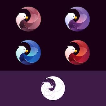 Modèle de logo dégradé eagle